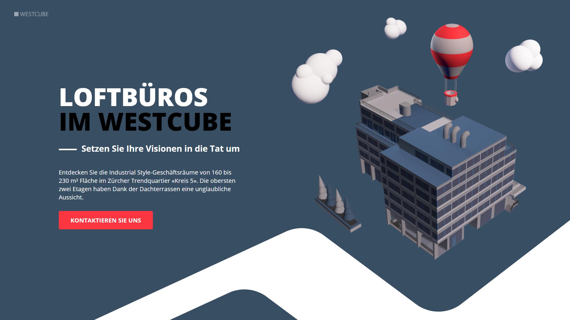 3D Renderings Loftbueros im Westcube Zuerich