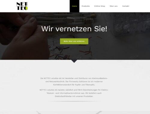 NETTEC Webseite & Webshop