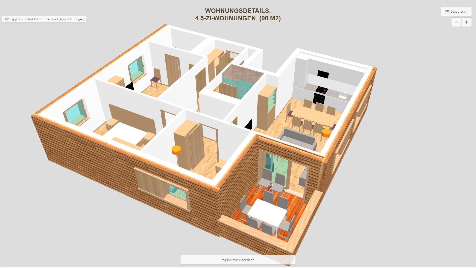 Pradas Resort Graubuenden 4.5 Zimmer Wohnung