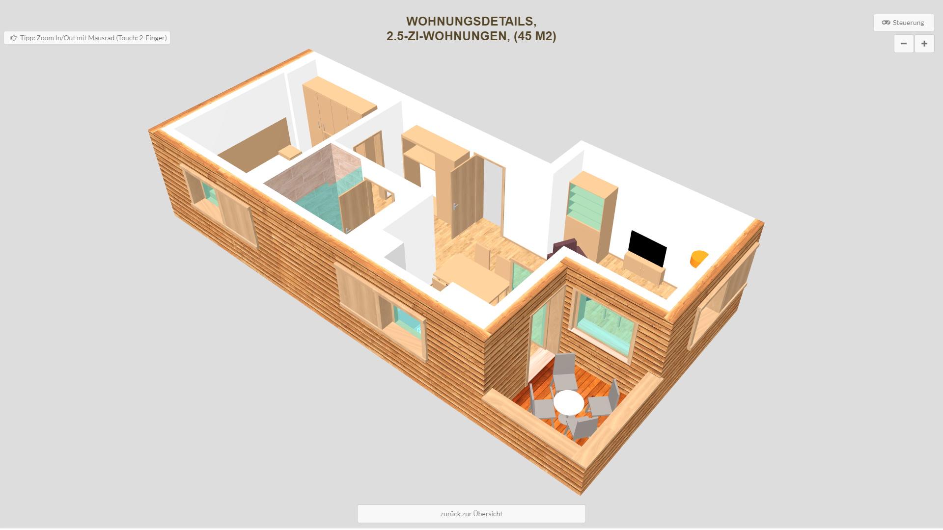 Pradas Resort Graubuenden 2.5 Zimmer Wohnung Balkon
