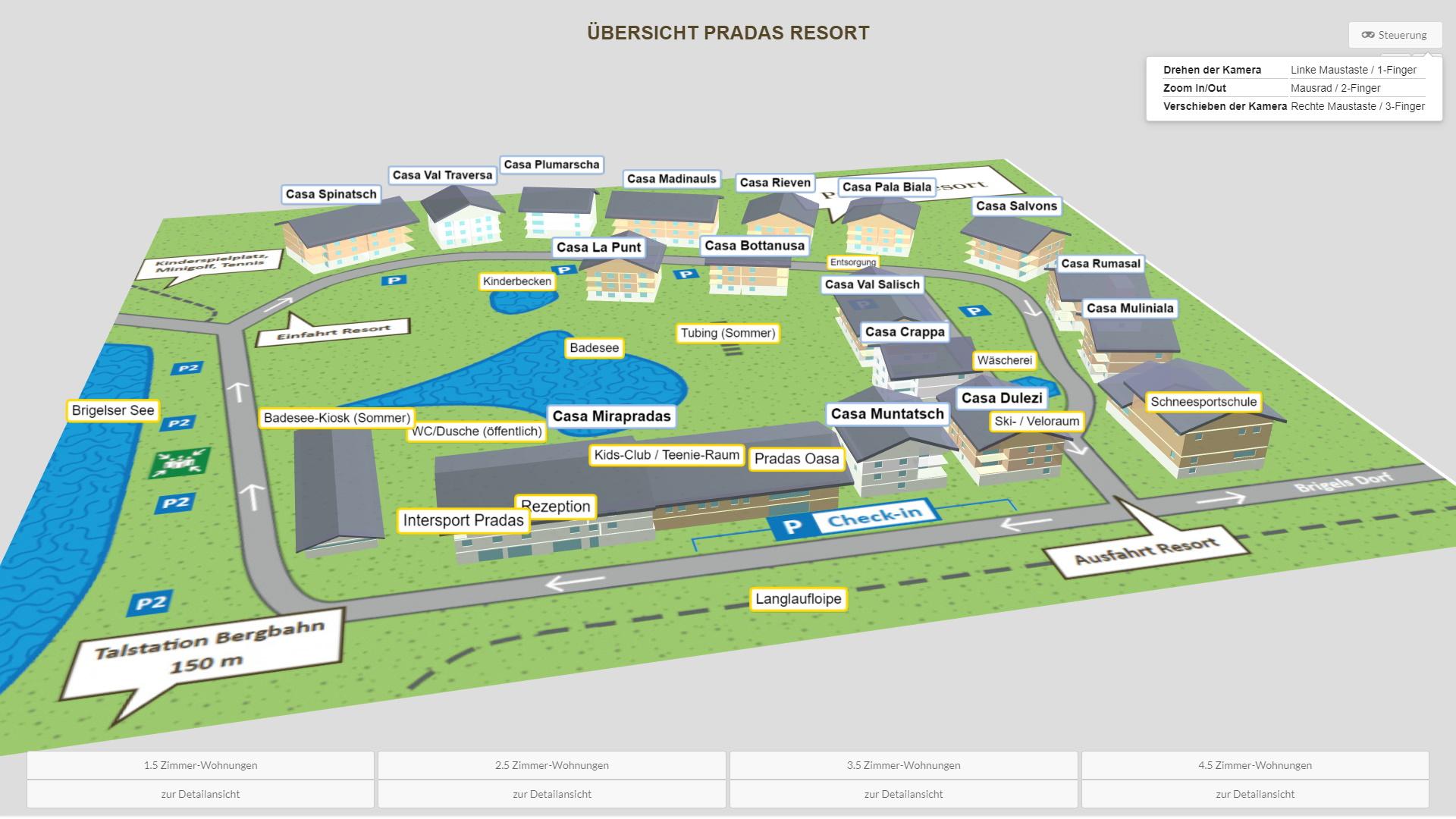 Pradas Resort Graubuenden Uebersicht