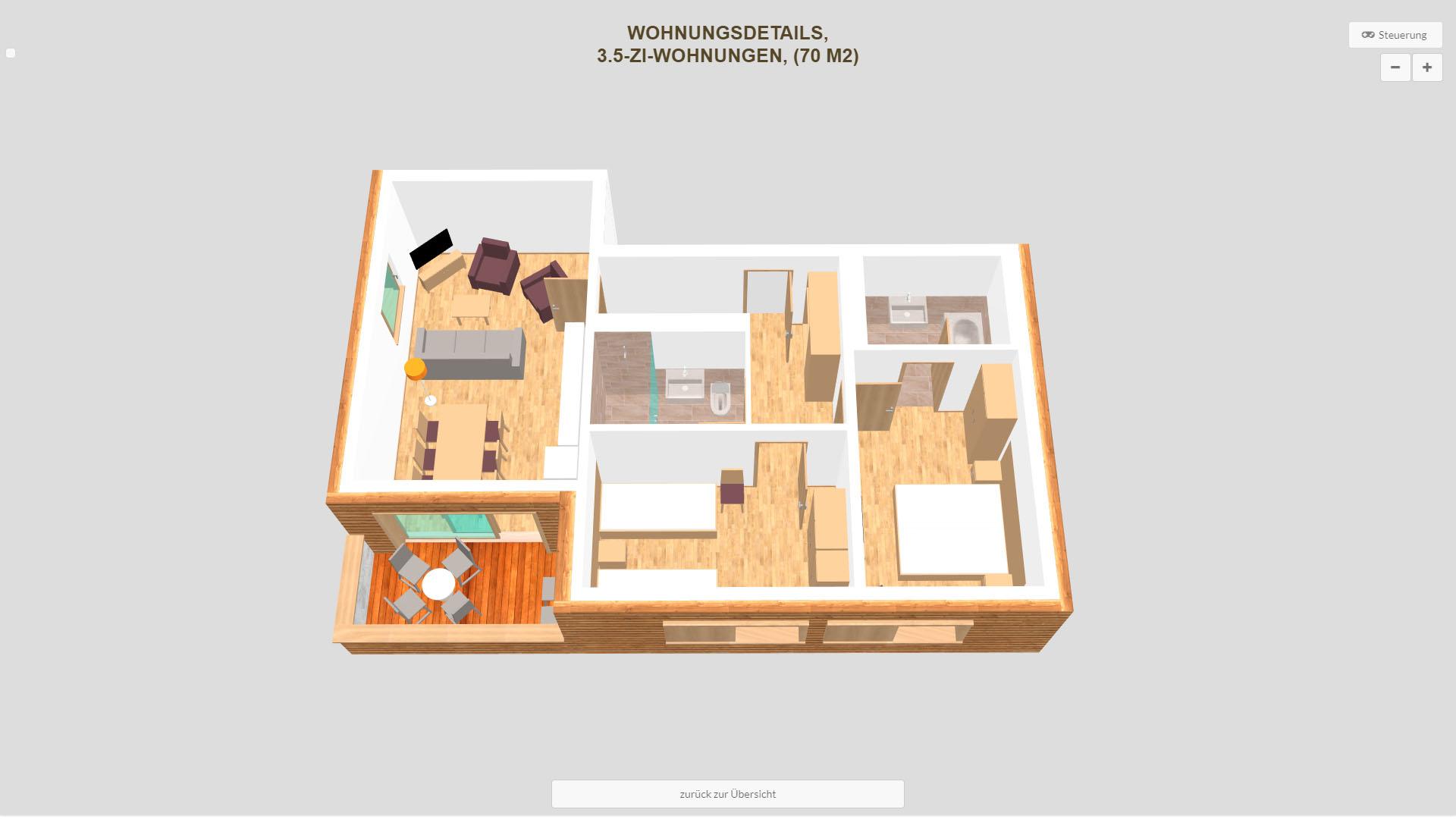 Pradas Resort Graubuenden 3.5 Zimmer Wohnung