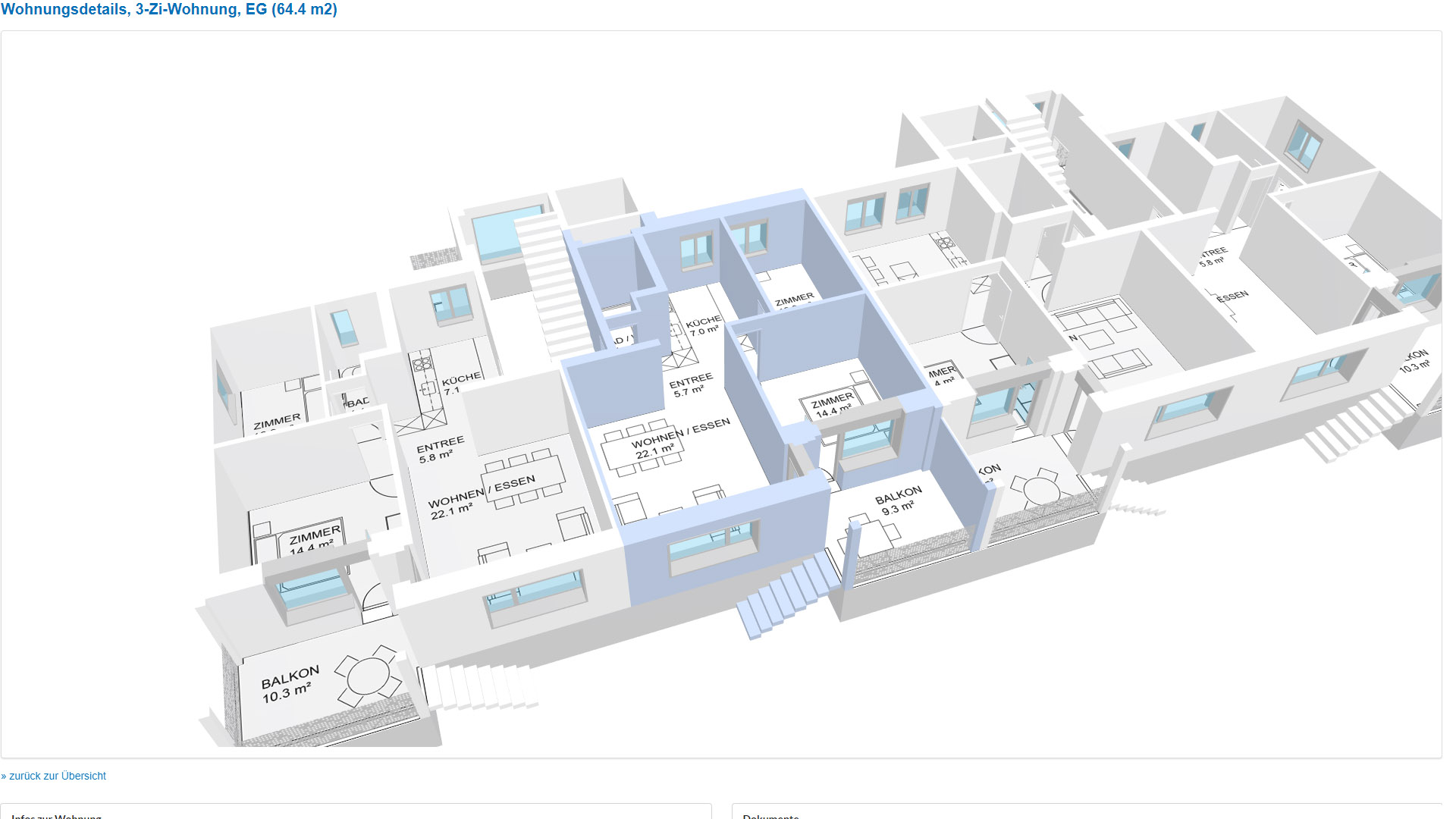 Silu Auenring Zuerich Grundrissplan in 3D