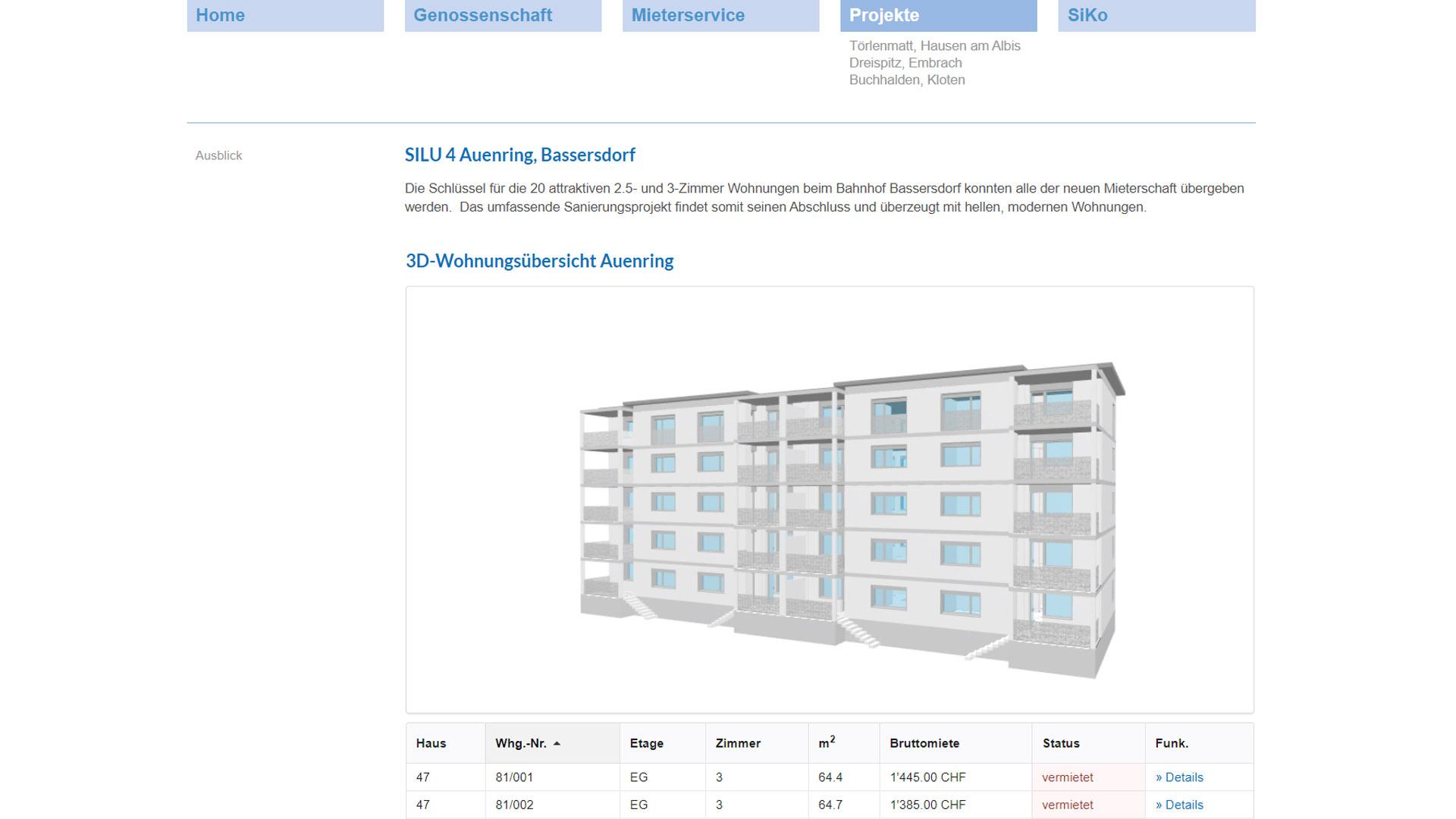 Silu Auenring Zuerich Webseite