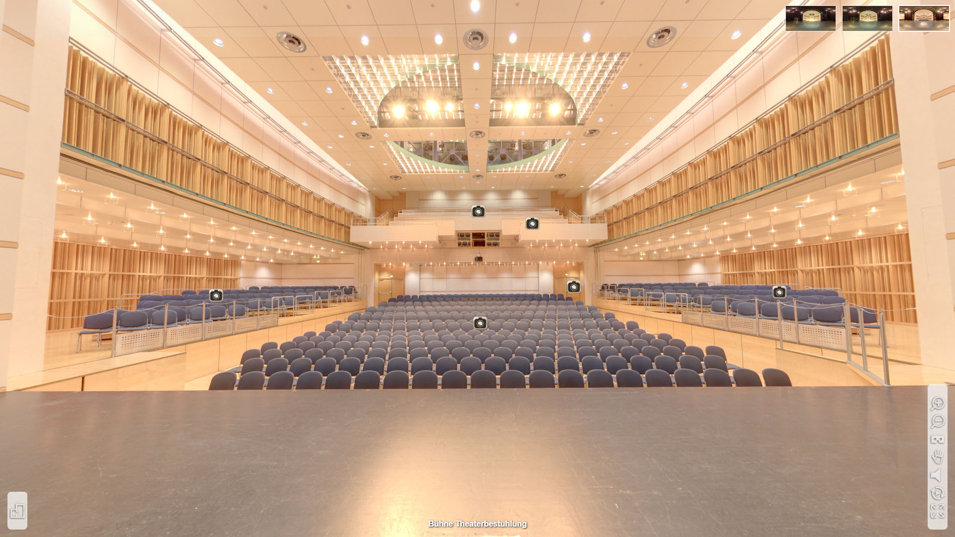 Lorzensaal Cham Buehne Theaterbestuhlung