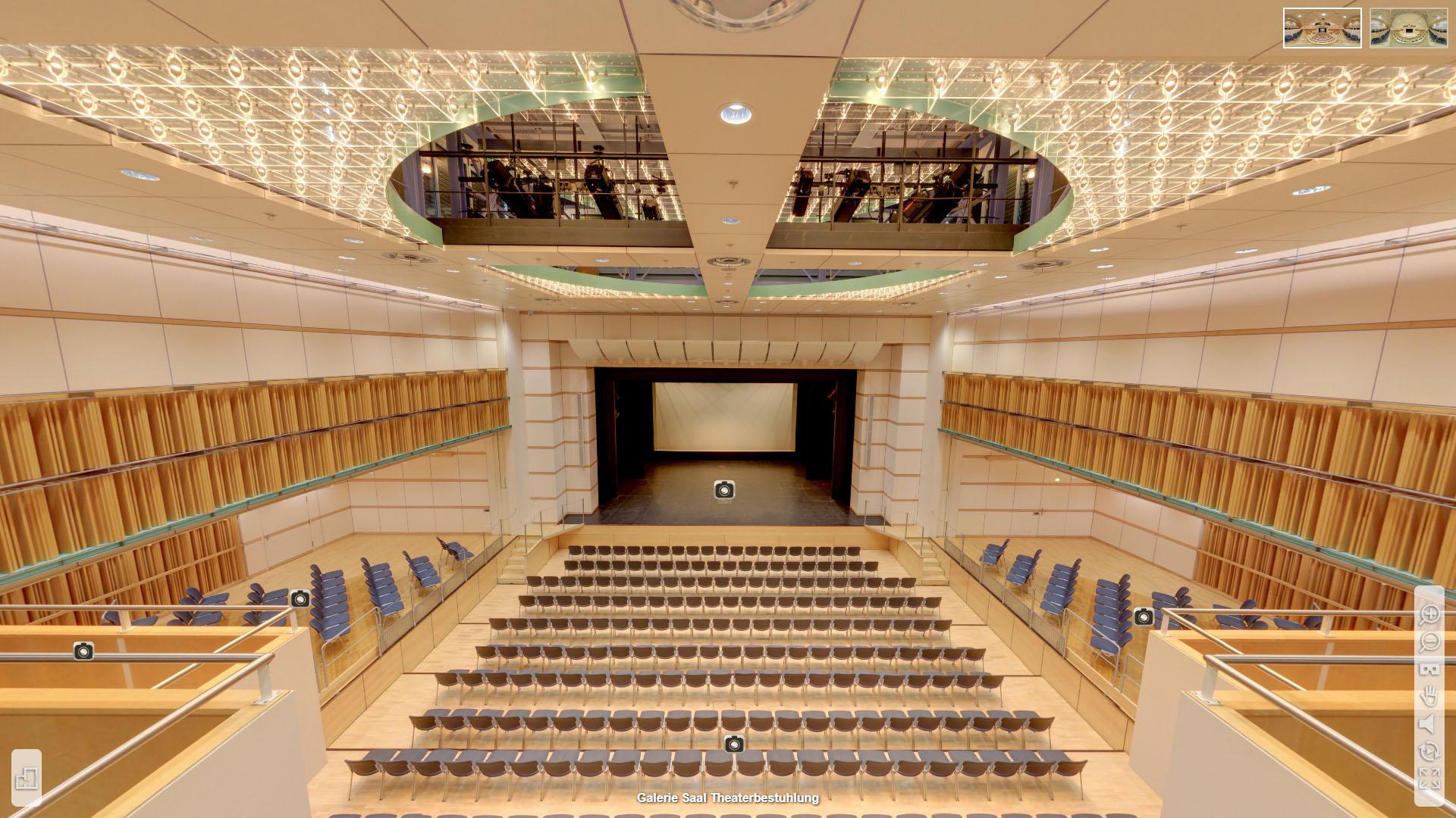Lorzensaal Cham Galerie Saal Theaterbestuhlung