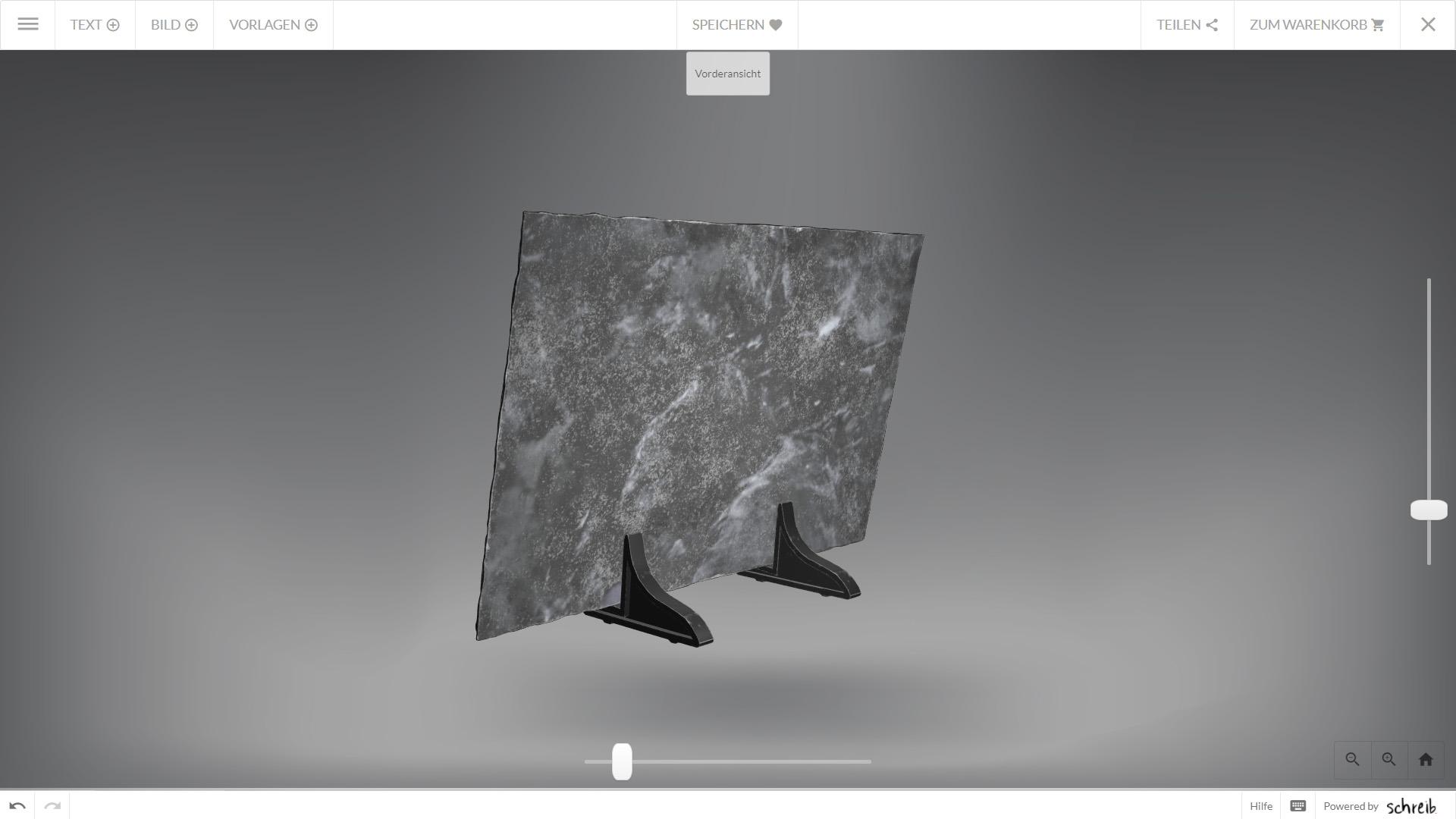 Memento Webshop Konfigurator Schiefertafel hinten