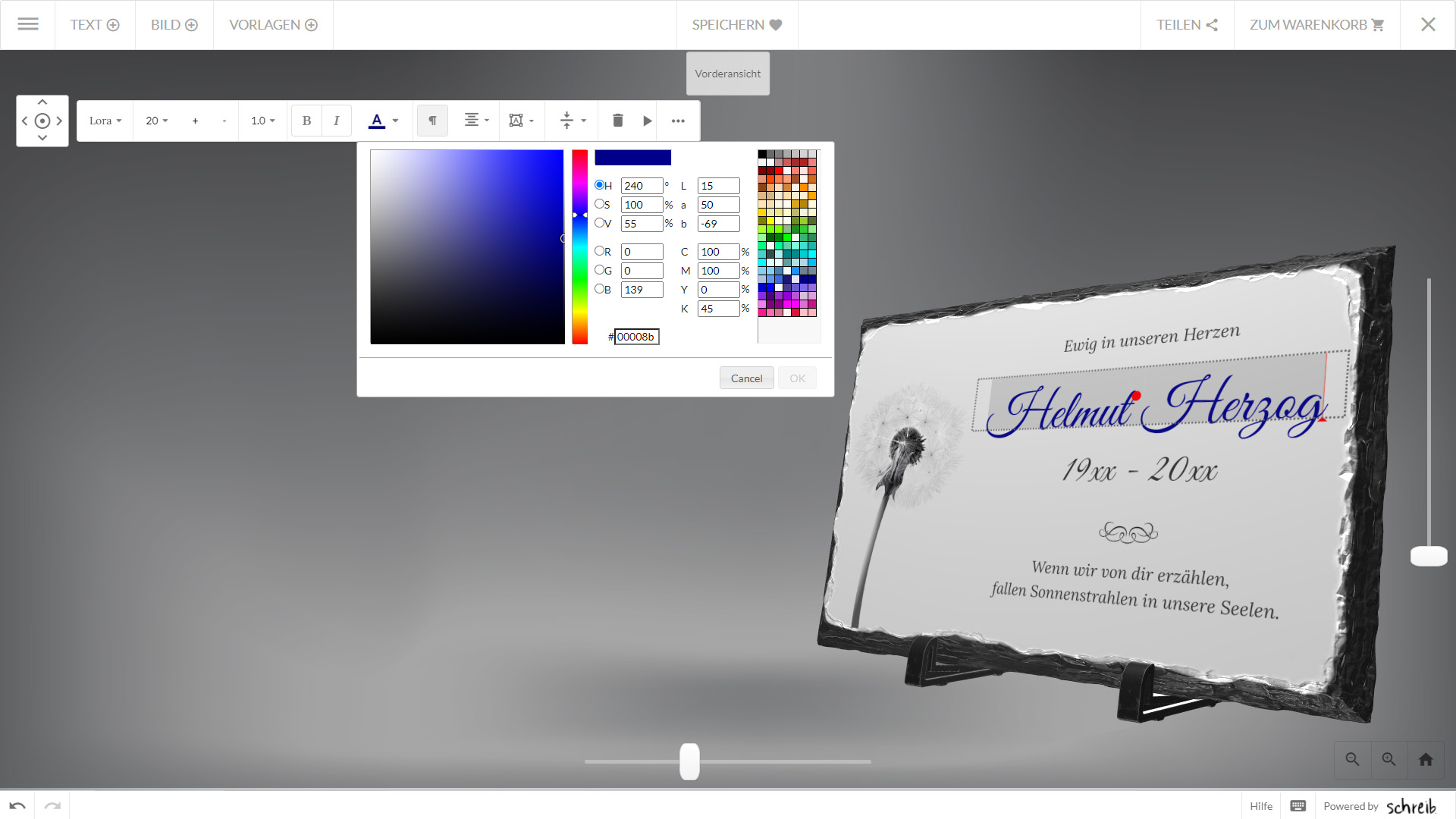 Memento Webshop Konfigurator