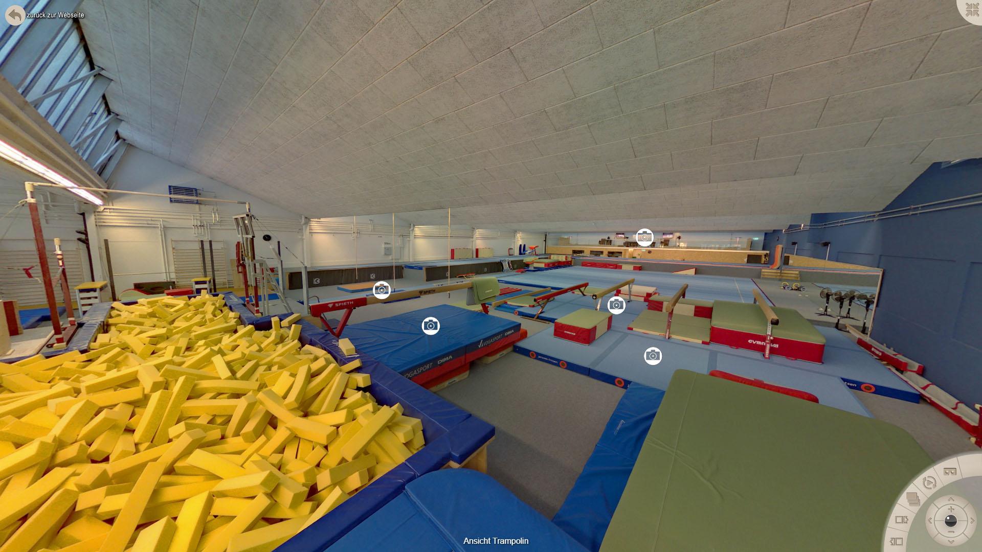 NFF Gymnastics Zuerich Ansicht Trampolin