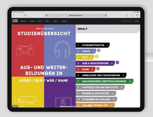 SAE Interaktive Broschüren-App